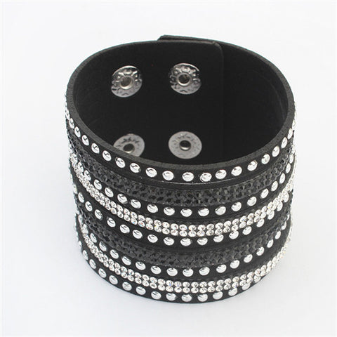 New Multilayer Leather Wrap Bracelet Gift For Women