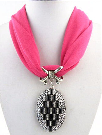 New Arrival Elegant Chunky Pendant Polyester Scarves for Women