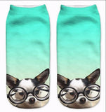 Pug Dogs Unisex Low Cut Ankle Socks For Dog Lovers