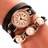 Luxury Leather Bracelet Wristwatches Women Dress Watches