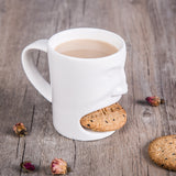 New Fancy Cool Creative Face Coffee Tea Milk Mug With Cookies Slot