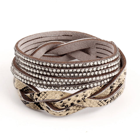 New Arrival Hot Selling Vintage Faux Leather Wrap Bracelet Trendy Classic