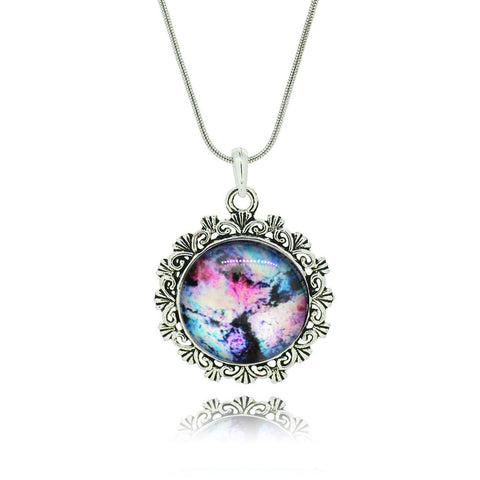 Lovely Galaxy Nebula Space Pendant