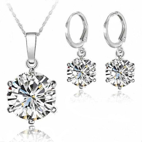 Classic Fashion Earrings Necklace Jewelry Sets