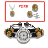 FLASH SALE - Fashion Crystal Watch With Pendant and Earrings Free