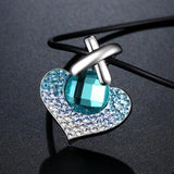 Ombre Heart Crystal Pendant Necklace
