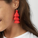 New Trendy Multilayer Tassel Drop Earrings