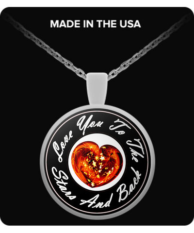 Love You Heart Pendant - Black!