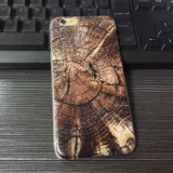 New Arrival Natural Tree Wood Pattern Plastic Hard Case Cover For iPhone 7 7plus 6 6s plus 5 5s