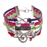 New Multi Layer Best Friend Colorful Bracelet With Owl Charms