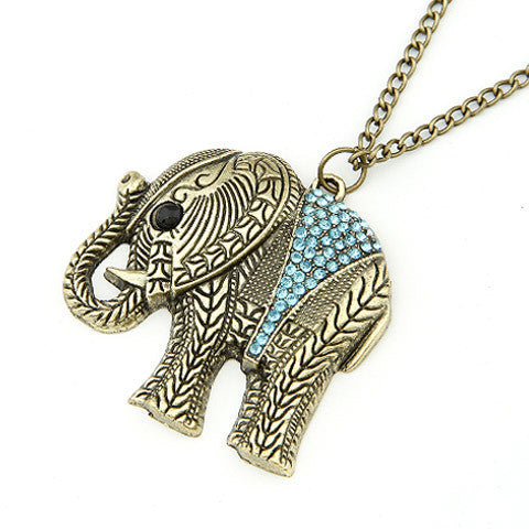 New Ethnic style Cute Decorated Elephant Pendant Necklace