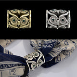 New Arrival Antique Style Owl Scarf Holder Brooch