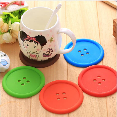 New Design Button Coasters Cup Mats Tableware Home Decor