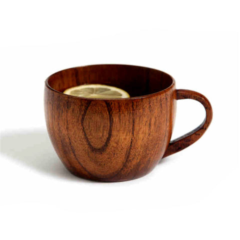 New Wooden Mug With Hand Grip Coffee Tea Milk Mug 260ml