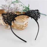 New Hot Black Lace Style Cat Ears Headband Hairband