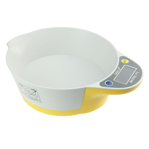 New 1g to 5kg LCD Display Bowl-shape Digital Scale , Measuring, Weighing Kitchen Tool