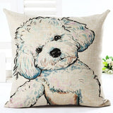 New colorful Dog Pattern 3D Throw Pillow Cushion Cover For Sofas Home Decor