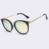 New Fashion Cat Eye Mirror Sunglasses Shades