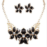 Enamel Flower Style Fashion Jewelry Set