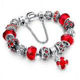 New Pretty Colors Crystal Beads Charm Bracelet