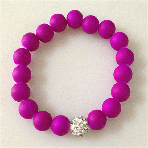 New Rhinestone Beads Candy Color Stone Beads Fashion Bracelets
