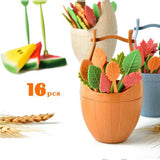 New Fun Colors Set of 16 Fruit/ Dessert Forks For Party, Dinning Kitchen Tool