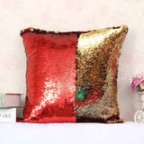 New Hot Decorative Reversible Sequin Two Color Throw Pillow Cushion Covers For Sofas Home Decor