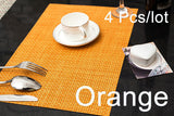 New Set of 4 Weave Placemats Table Mats Slip Resistent Dinning Kitchen Tool