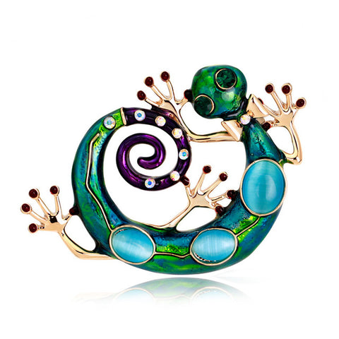 New Fashion Enamel Lizard Gecko Brooch