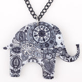 New Fashion Acrylic Long Colorful Elephant Pendant