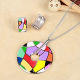 Elegant Colorful New Design Enamel Jewelry Set