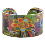New Fashion Very Unique Colorful Pattern Cuff Bracelet