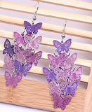 New Fashion Colorful Drop Dangle Flower Dragonfly Owl Butterfly Earrings for Women