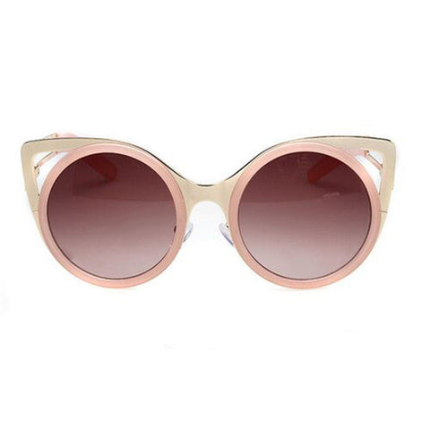 New Fashion Cat Ears Style Round Frame Sunglasses Shades