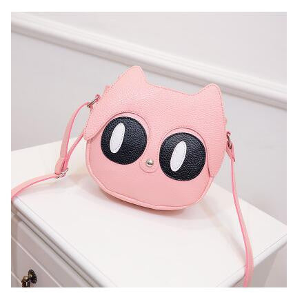 New Super Cute Cat Big Eyes Shoulder Bag Messenger Bag Handbag