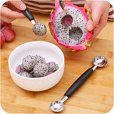 New Stalinless Steel Double-end Melon Baller Scoop, Fruit Spoon Cooking/ Kitchen Tool
