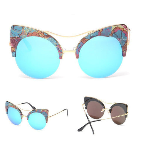 New Style Unique Cat Eye printed Sunglasses Shades