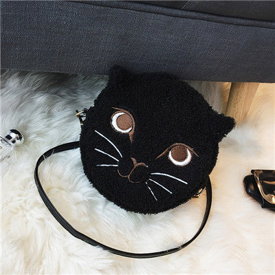 New Fashion Circular Cute Cat Shoulder Bag handbag
