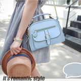 New Casual beautiful Candy color Messenger Bag Shoulder Bag Handbag With 2 Exterior Pockets