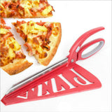 New Pizza Scissors, Slicer With Tray Kitchen Tool