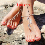 New Beautiful Vintage Style Anklet Ankle Bracelet With Toe Ring