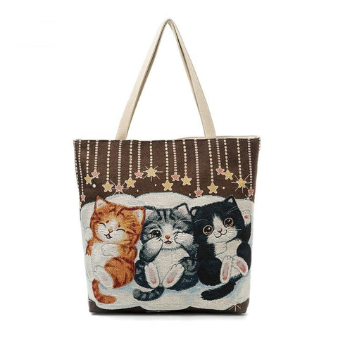 Cute Cats Canvas Bag