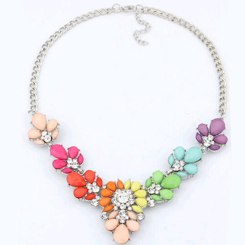 New Hot Fashion Crystal Choker Statement Necklace