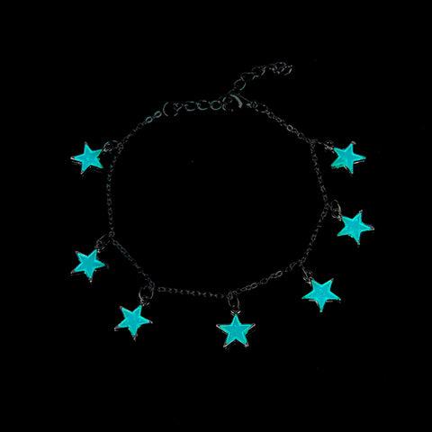 New Beautiful Star/ Heart Glow in the Dark Anklet Ankle Bracelet