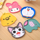 New Silicon Cartoon Coasters Cup Mat Tableware Home Decor