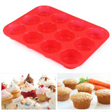 New Cupcake/ Muffin Silicone Mold/ Tray For Baking Kitchen Tool