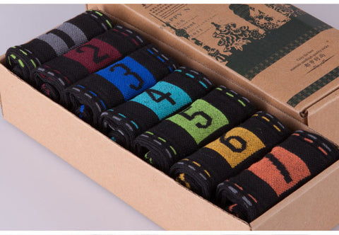 New Style Set Of 7 Pairs For 7 Days Socks
