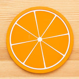 New Non-slip Colorful Fruity Coasters Cup Mats Tableware Home Decor