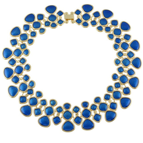 New Trendy Enamel Collar Statement Necklace