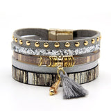 New Design Soft Color Multilayer Charm Bracelet